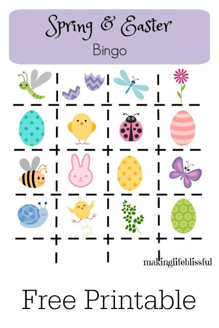 Eloquent image with regard to spring bingo game printable