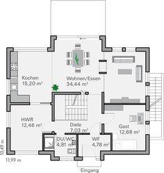 grundriss eg frey d m pinterest grundrisse traumh user und haus bauen. Black Bedroom Furniture Sets. Home Design Ideas