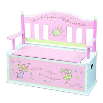 Beau Little Girls Dress Up Trunk | Girls Fairy Wishes Dress Up Storage Chest