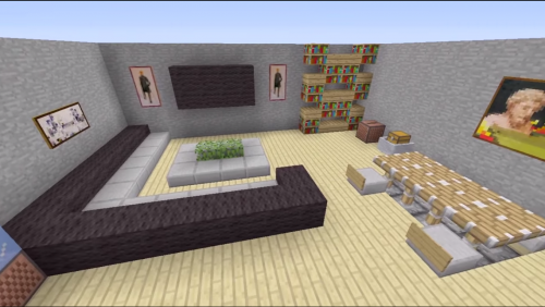 Minecraft house interior living room google search for Minecraft lounge ideas