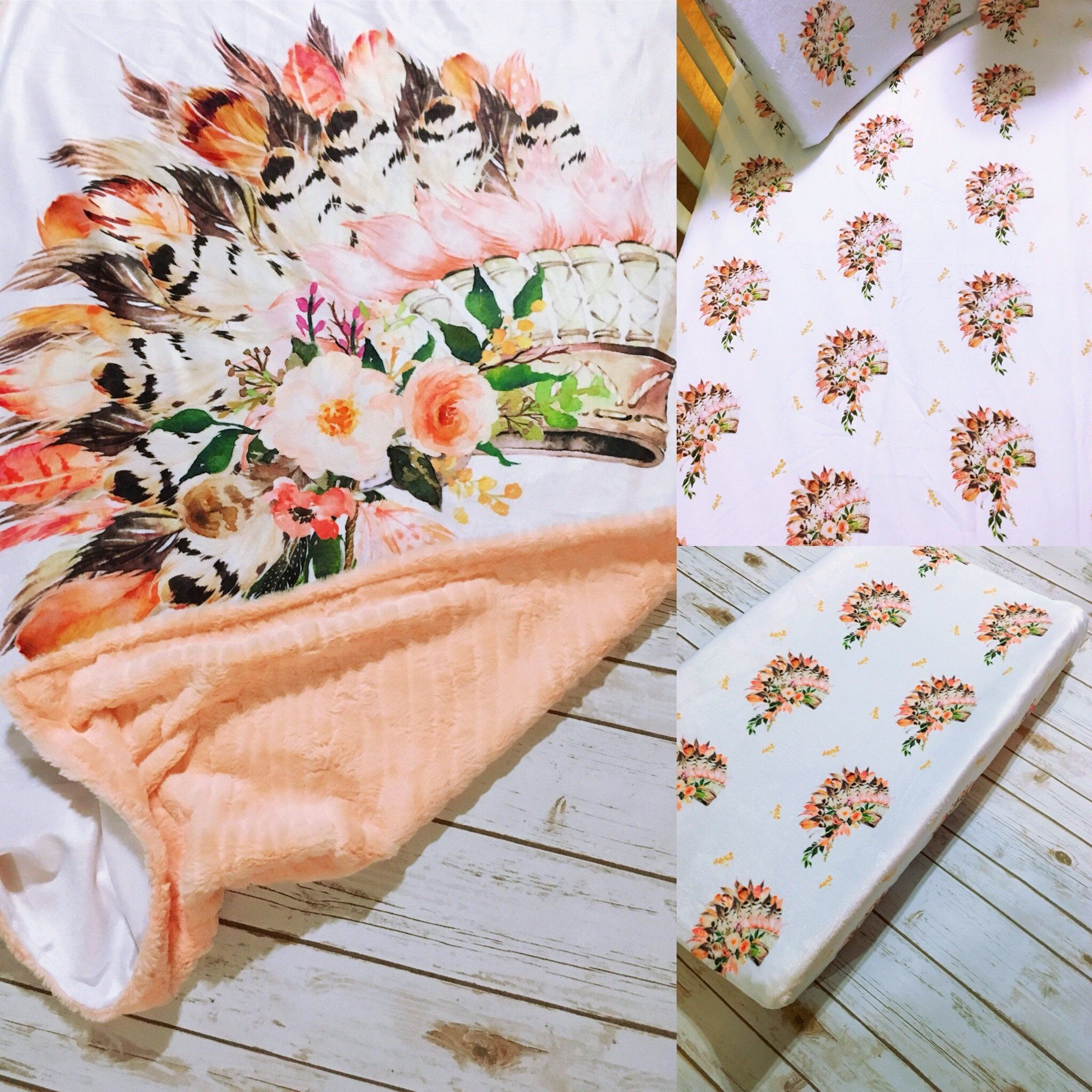 Peach Headdress Bedding Collection Peach bedding, Native