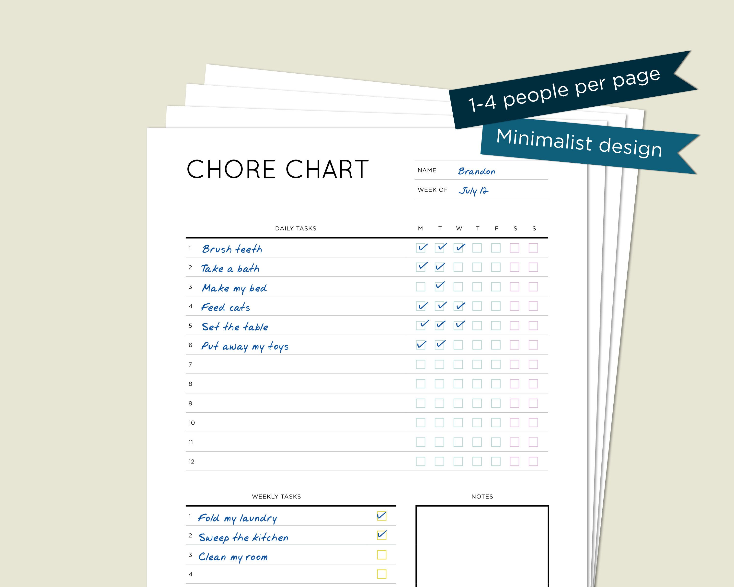 3 Up Printable Weekly Chore Charts From Choretell Com Daily Routine Chart For Kids Chore Chart Template Weekly Chore Charts