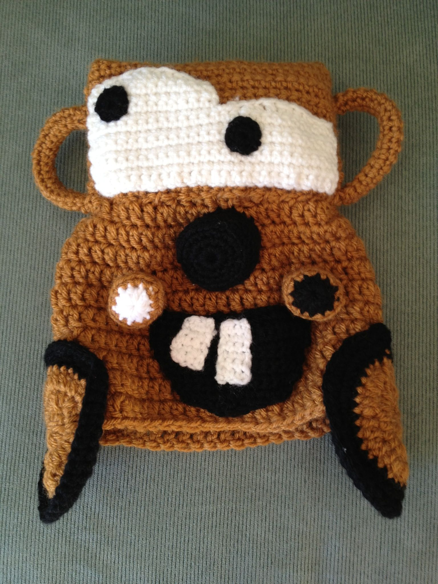 Tow Mater Hat Crochet Cars Rust Black by KidzLidzAndOtherDigz ...
