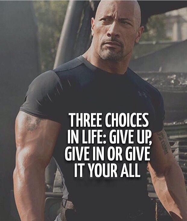 Never Give Up Dwayne Johnson Quotes Rock Quotes Warrior Quotes