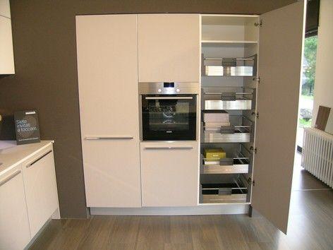 cucina One+ Ernestomeda outlet - dispensa con cesti etraibili ...