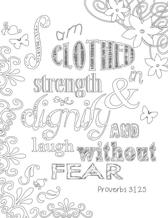 Coloring Book Bible Verses : Proverbs 31 coloring page etsy and adult coloring