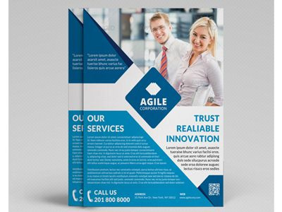 Corporate Flyer Template Vol   Business Flyers Template And