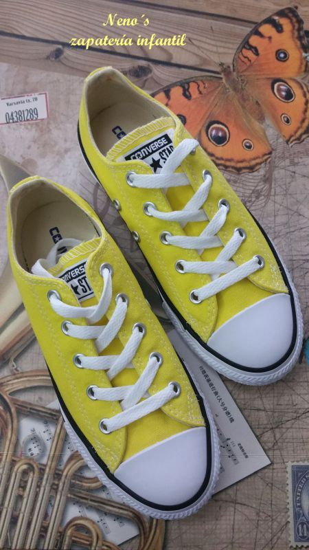 converse niños amarillas