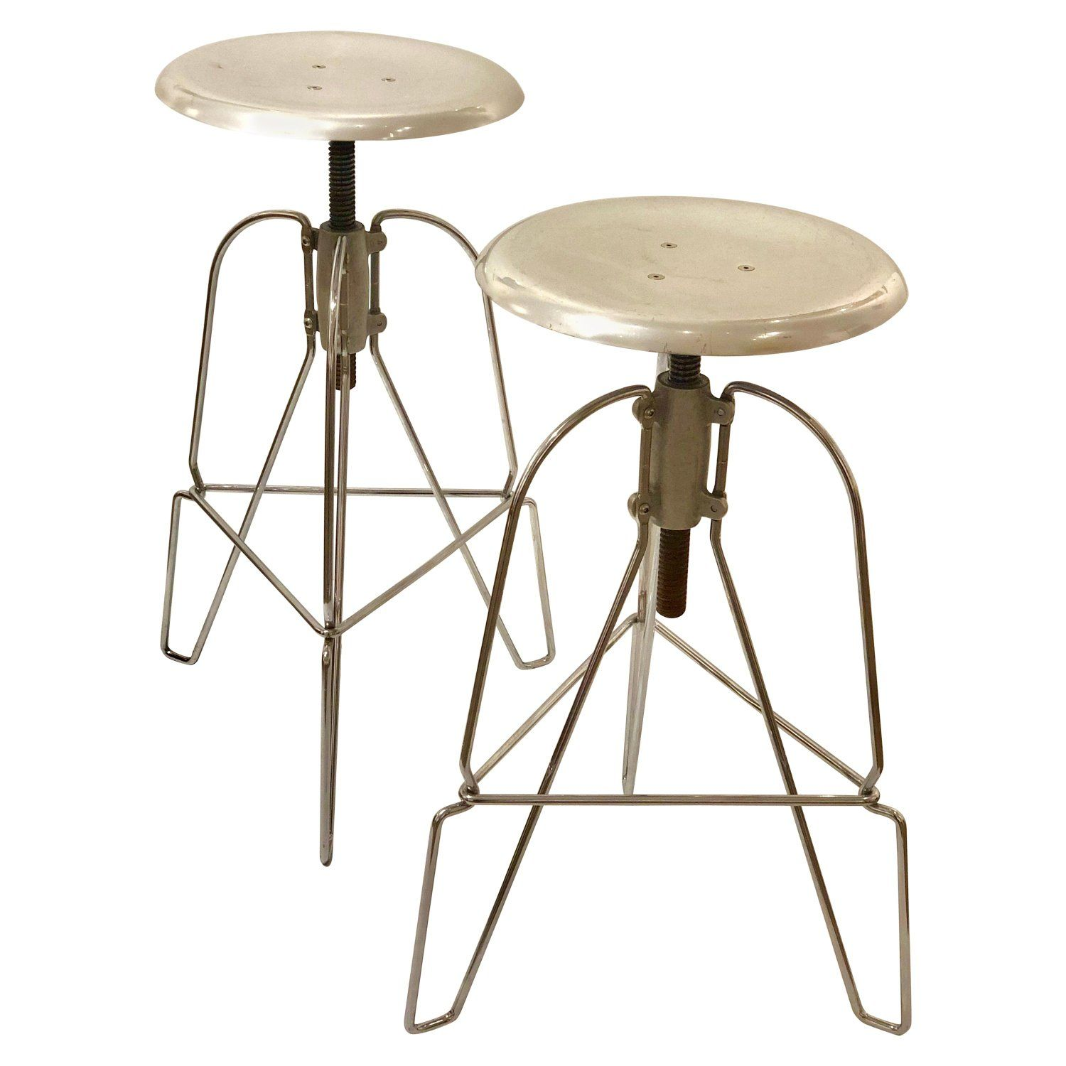 Pair Of Jeff Covey Stools With Swivel Tops For Herman Miller Stool Swivel Seating Swivel