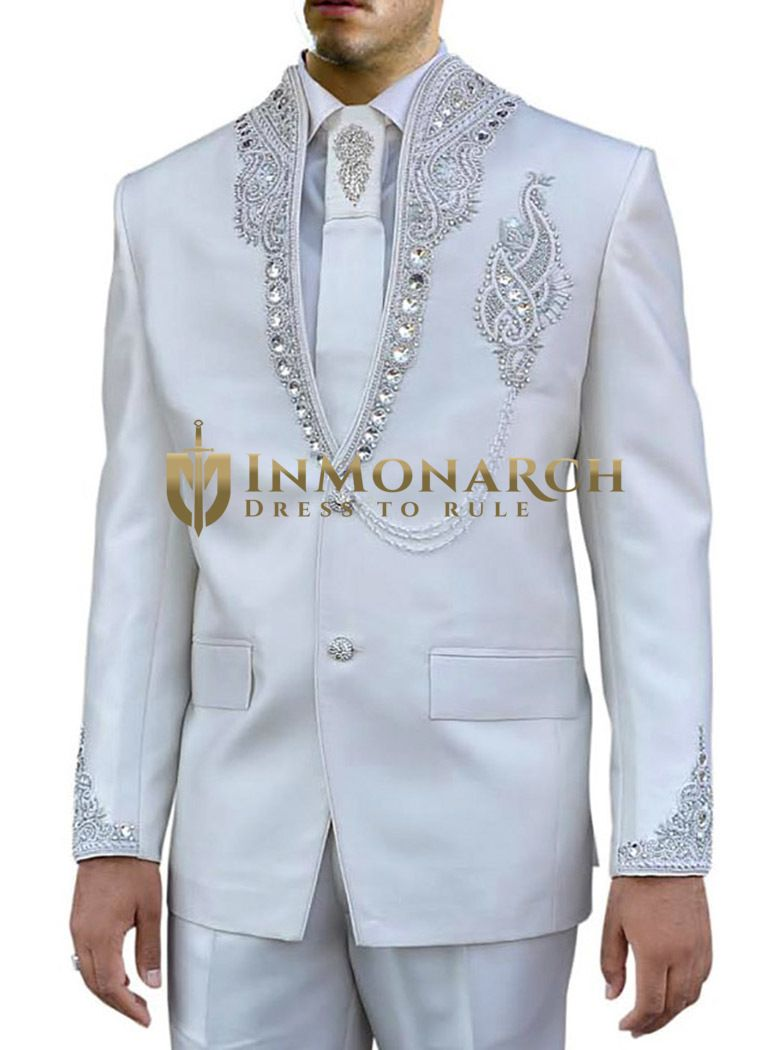 High neck two piece Jodhpuri suit made in pure polyester fabric. It ...