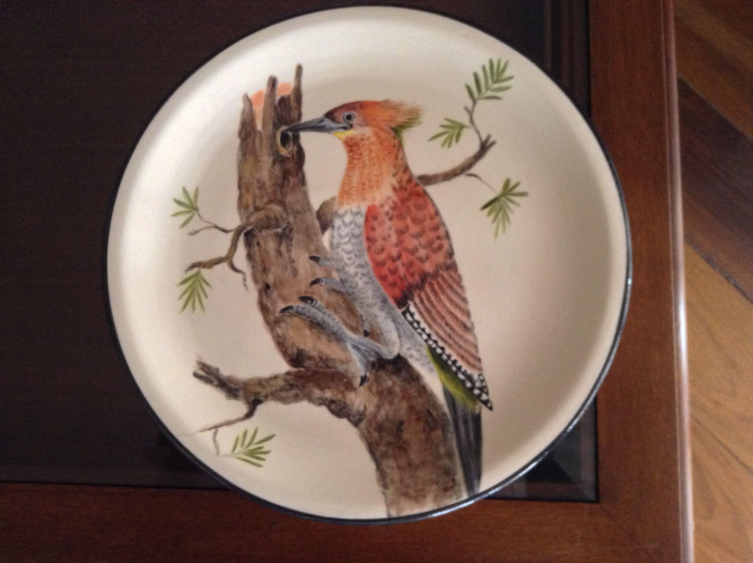 Prato de cerâmica pintado por Marina C Mendes sob orientação de Teresinha Grimaldi. Painted Ceramic plater!