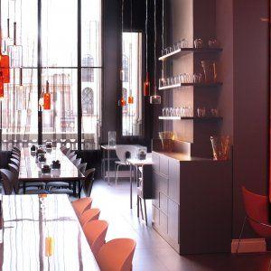 Spillray Pendant Lamps In Terrazza Aperol Milan Italy