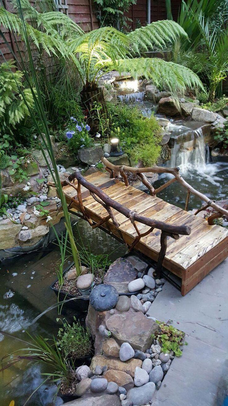 25+ kleine Hinterhof-Landschaftsgestaltung Ideen und Design auf einem Budget #backyard #frontyard ... - Pinterest #fountaindiy