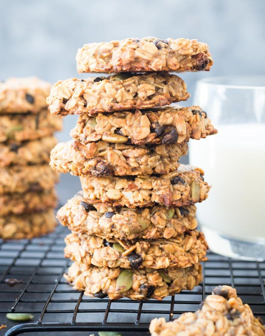 These Healthy Breakfast Cookies made with Banana, Oatmeal