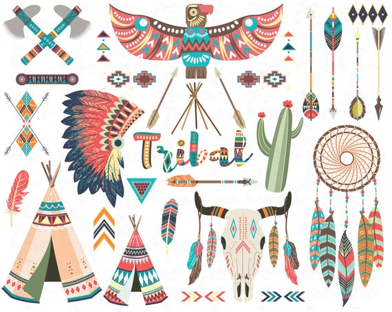Floral Tribal,Teepee Tents, | Clip art, Teepee, Floral