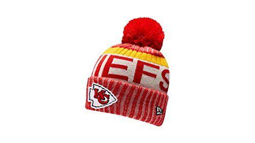 big sale 903e3 06396 New Era Knit Kansas City Chiefs Red On Field Sideline Sport Knit Winter  Stocking Beanie Pom Hat Cap 2015