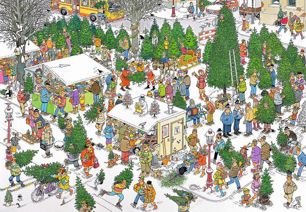 Christmas Tree Market (Kerstbomenmarkt) - Jan van Haasteren puzzels ...