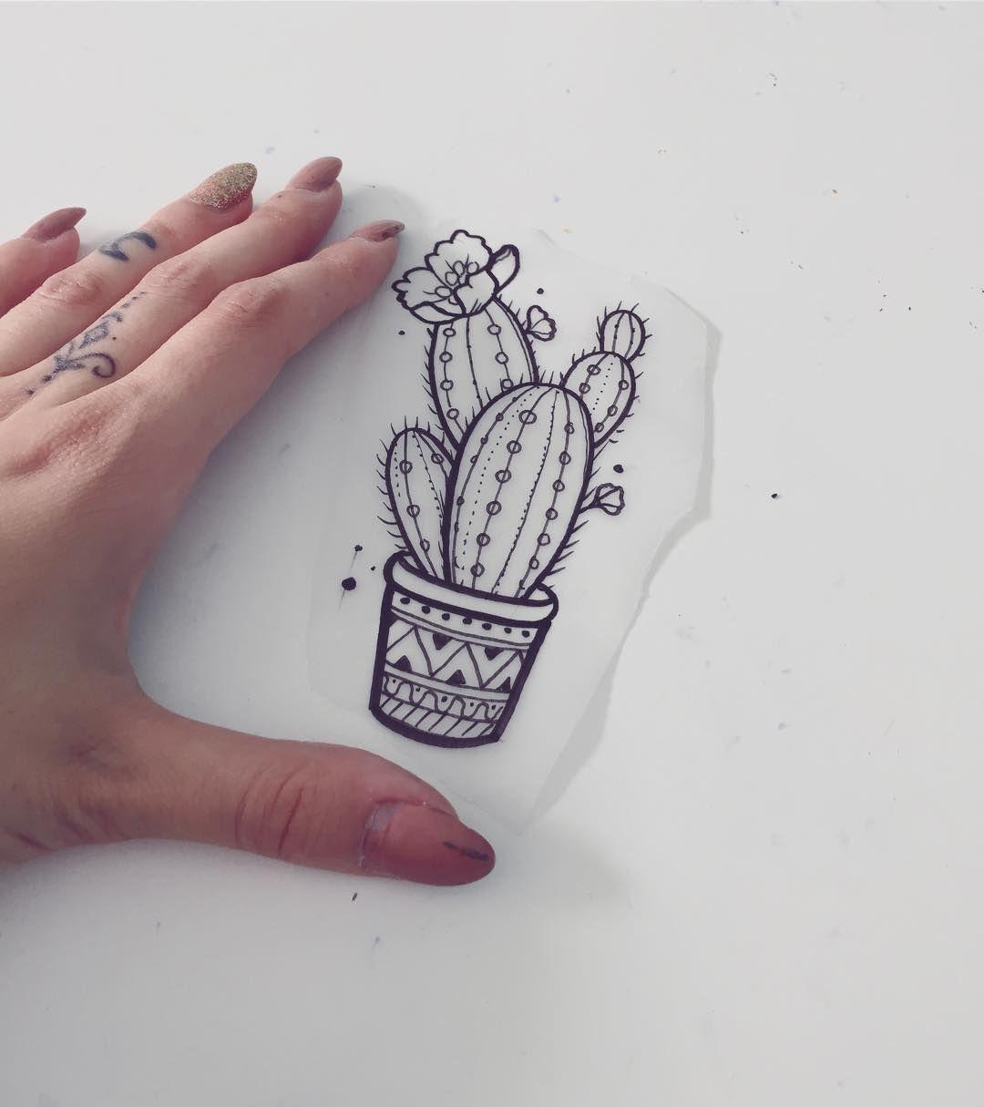Image result for minimalist cactus tattoo | cactus tattoo | Cactus ...