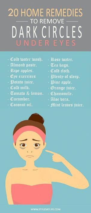 20 Effective Home Remedies to Remove Dark Circles Under Eyes #darkcircle