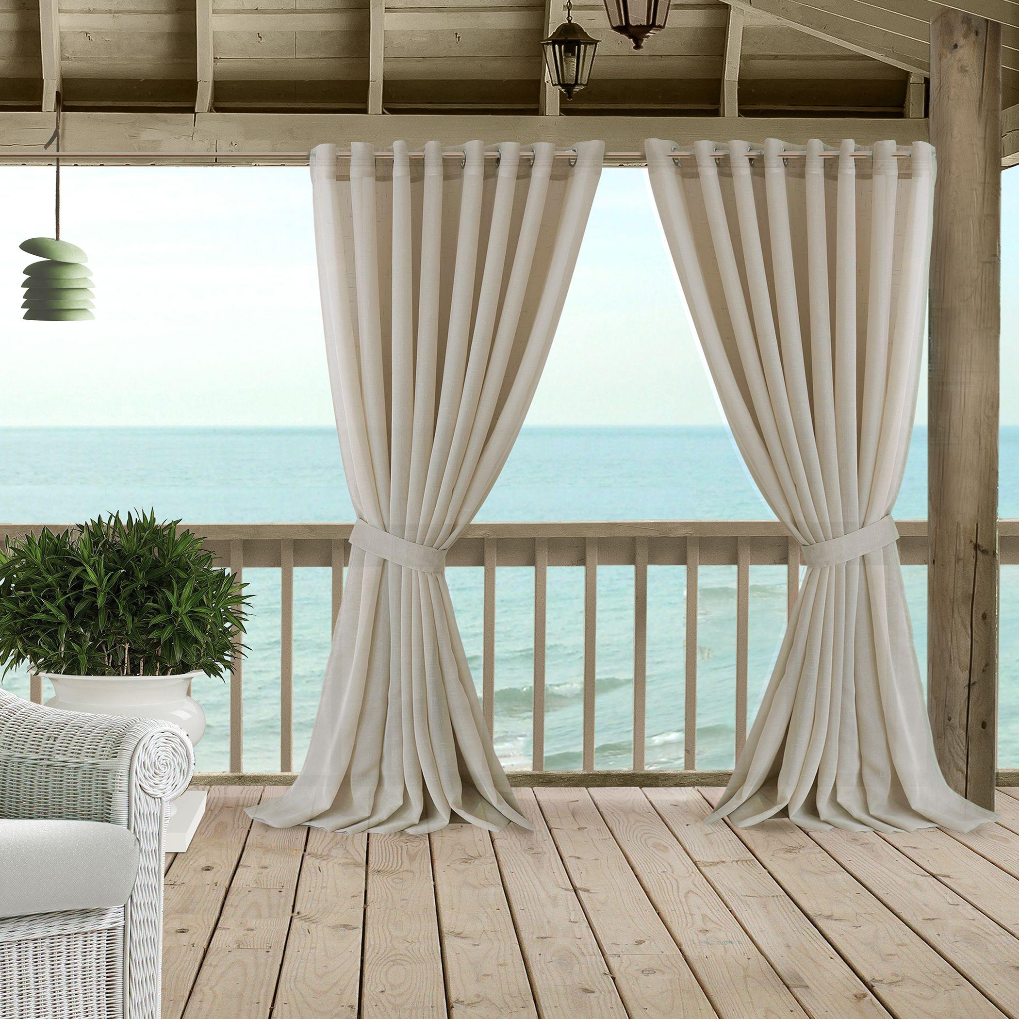 Carmen Sheer Extra Wide Indoor Outdoor Curtain Collection