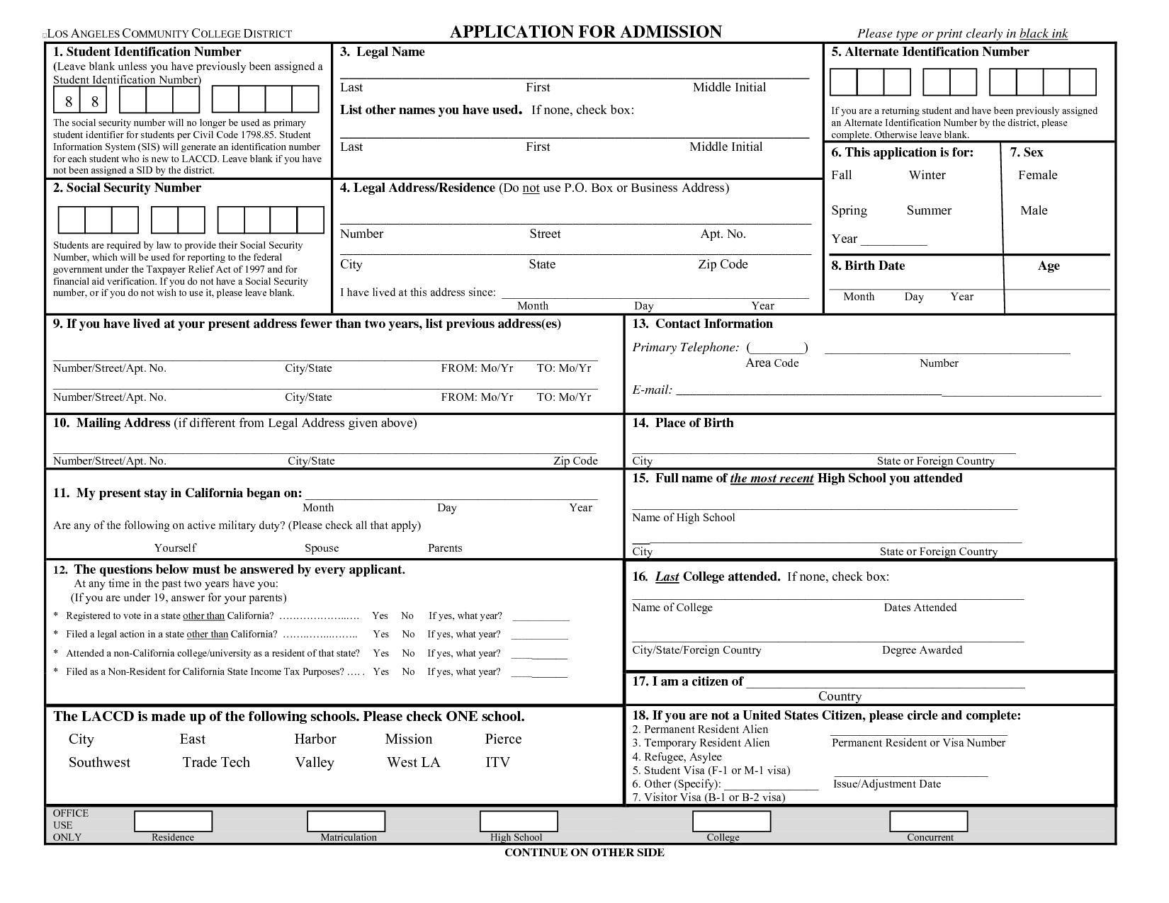 Printable Blank Job Application Form Employment Application Job Application Form Job Application