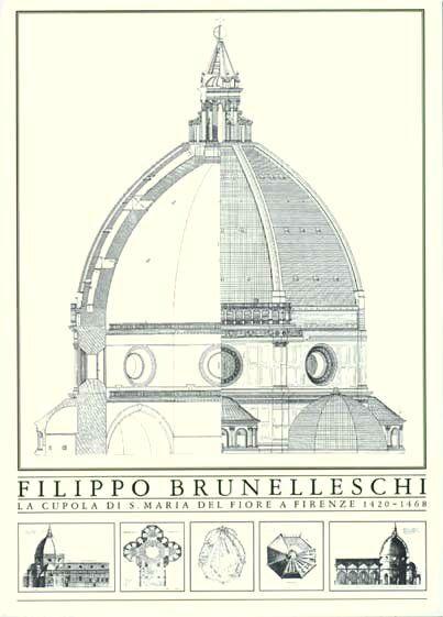 Brunelleschi Dome Section1 Jpg 403 561 Pixels Filippo Brunelleschi Renaissance Architecture Historical Architecture