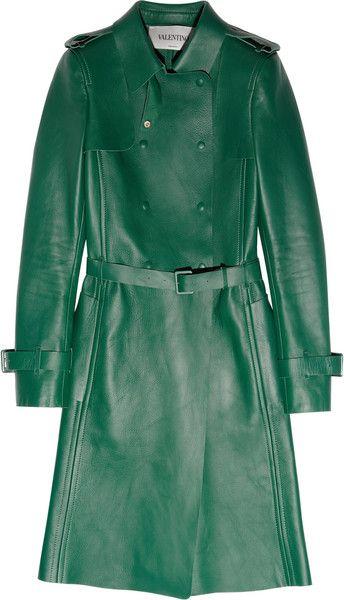 0ec24110ca1 Women's Green Leather Trench Coat | Fall / Winter Coats, Jackets ...