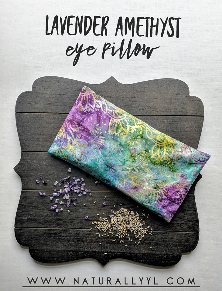 This Easy Diy Eye Pillow Combines The Soothing Elements Of Lavender Essential Oils And Amethyst Crystals With Images Eye Pillows Lavender Eye Pillows Meditation Pillow Diy