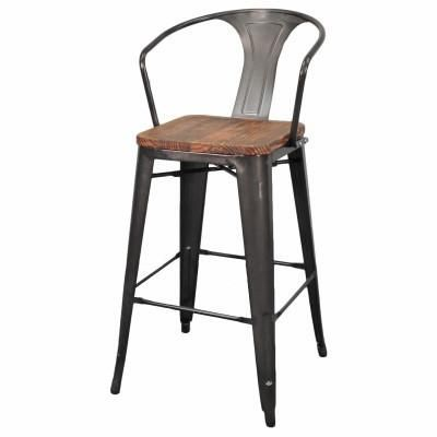 High Back Metropolis Wood Seat Stool in 2018 Family/Great Room