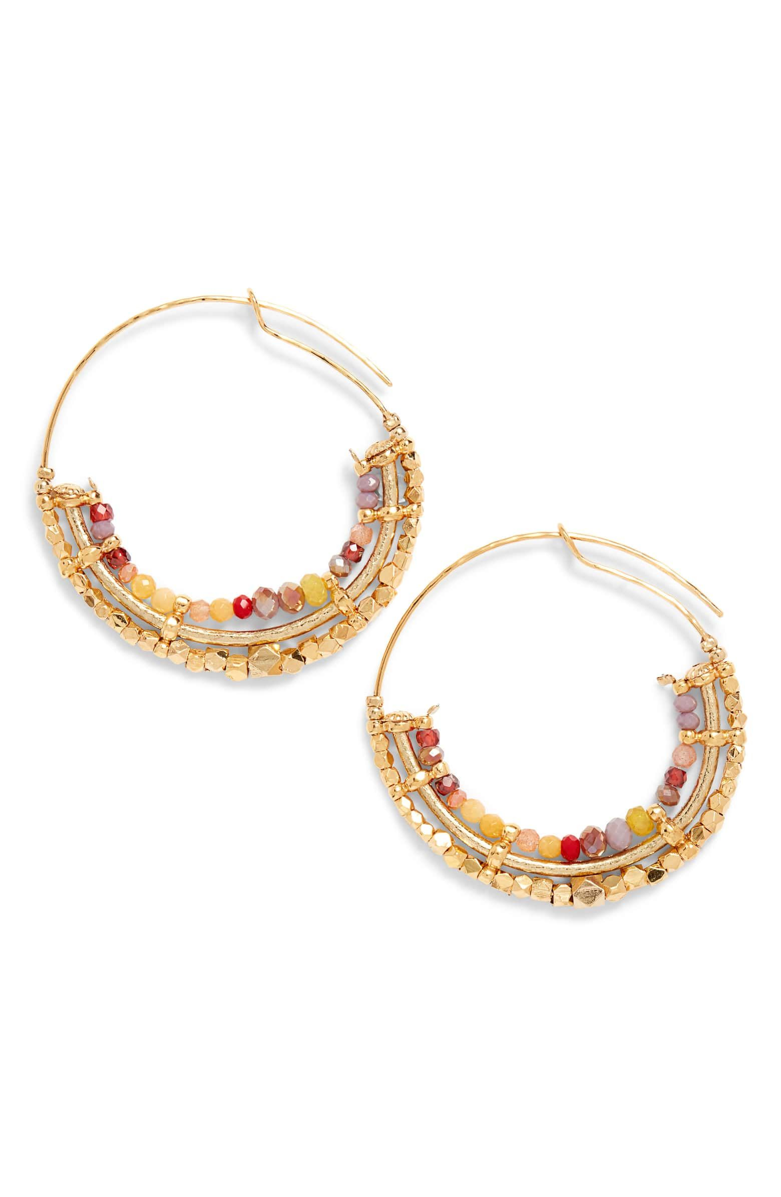 96e2305e19bb2 Gas Bijoux Comedia Beaded Hoop Earrings   Nordstrom   Jingle-jangle ...