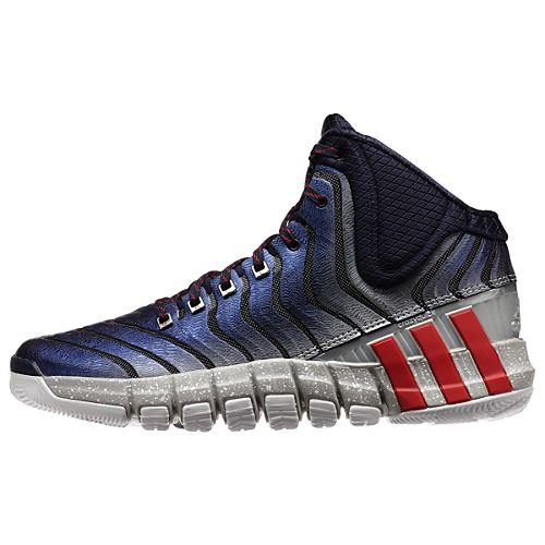 low priced 999e3 97ce0 Adidas Mens John Wall Adipure Crazyquick 2.0 NavyScarlet Sneakers