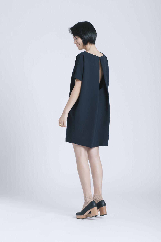 KAAREM - dolman open back mini dress