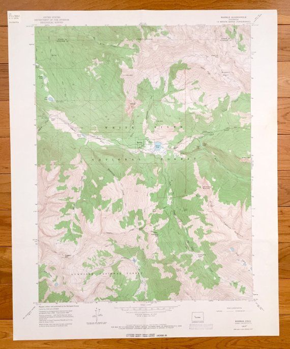 Antique Marble, Colorado 1960 US Geological Survey Topographic Map ...