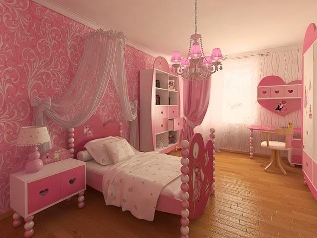 habitaciones nias color rosa
