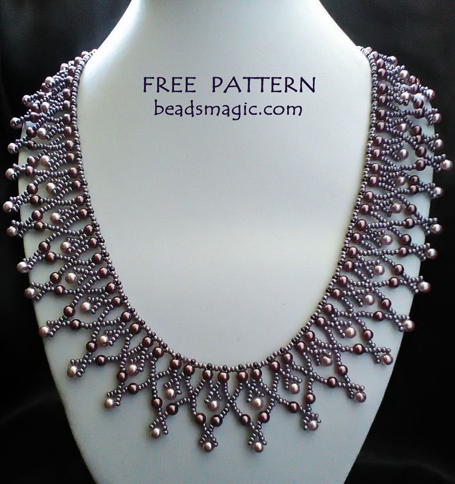 Free pattern for necklace Tayana #beads