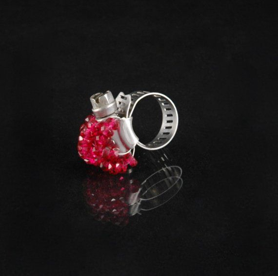 Simply fuchsia hose cl& ring by FoundryM on Etsy $20.00 adjustable with a screw driver. & Simply fuchsia hose clamp ring by FoundryM on Etsy $20.00 ...