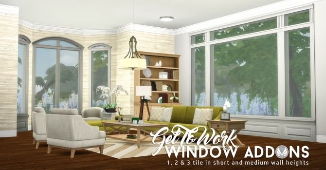 GTW Window Addons at Simsational Designs via Sims 4 Updates