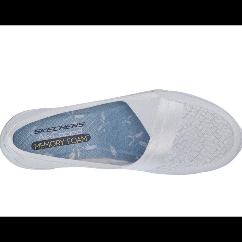 Skechers Women'S Be-Lux-Daylights Sneakerskechers Women'S Be-Lux-Daylights Sneaker-Whiteair Cooled Memory Foamflexible Solecomfort Foam Heel Cushionslip On With Memory Foambrand New With Box