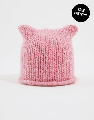 Cat Hat Free Pattern   Knitting   Pinterest   Gorros y Bebe