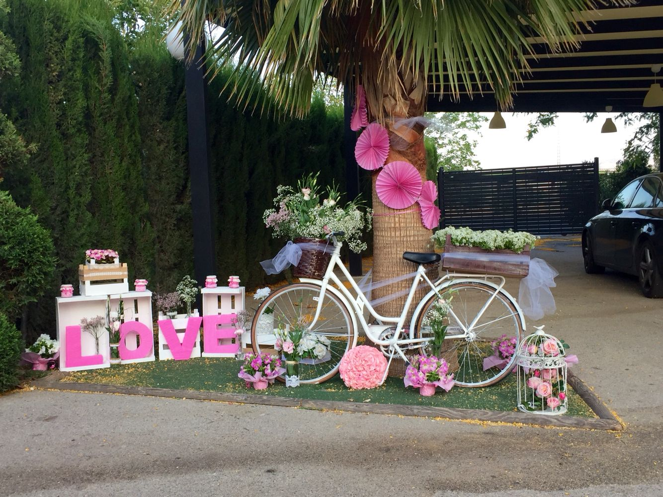 Decoracion boda vintage rom ntica bici con flores - Decoracion boda vintage ...
