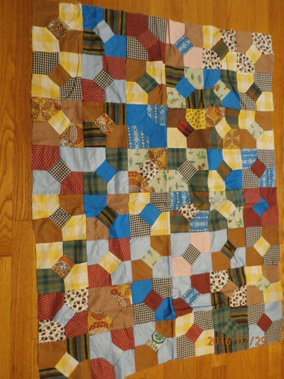 Vintage Estate Sale Quilt top 35 by 44   by lilmountaintreasures