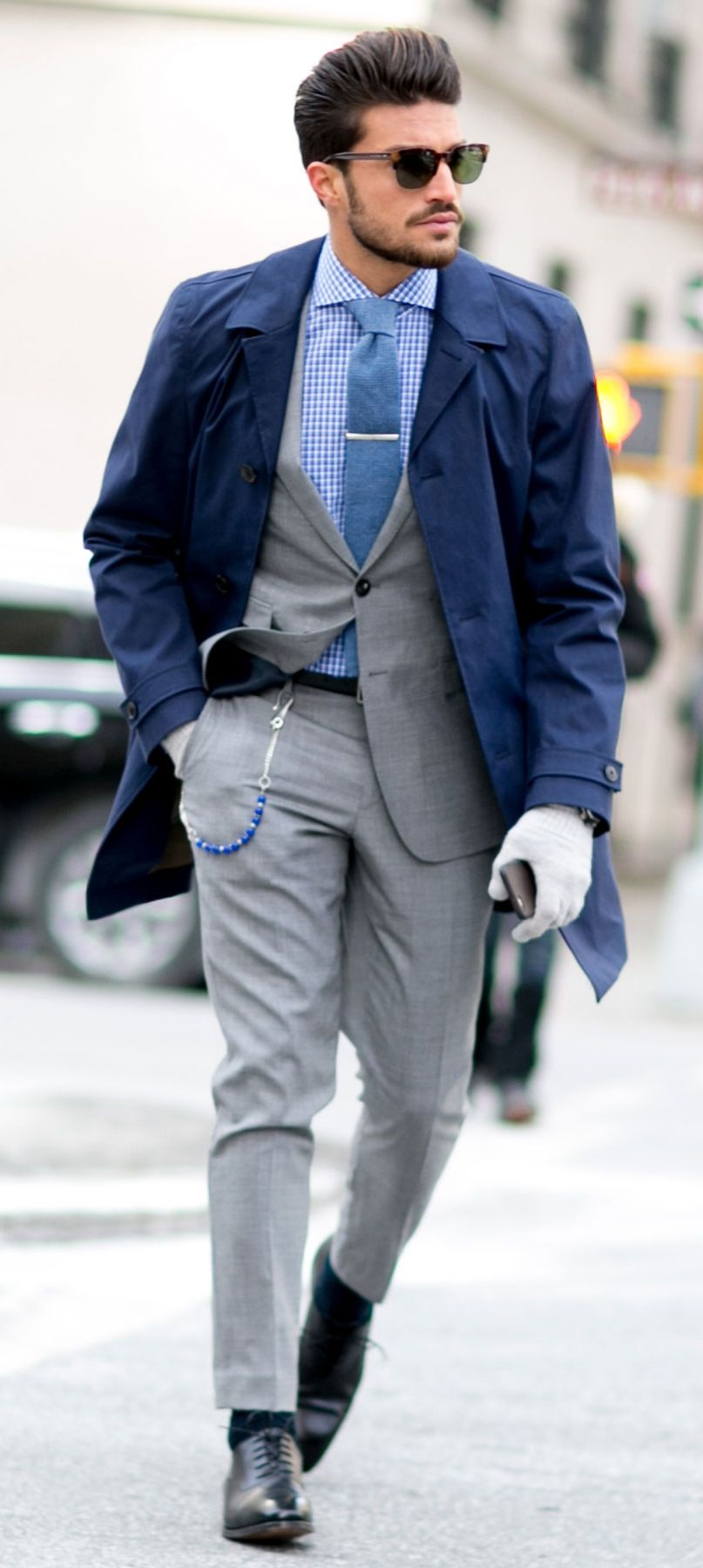Invest in a gray suit. It'll transition from Winter to