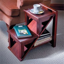 End Tables with Storage Space end table looks like two steps two