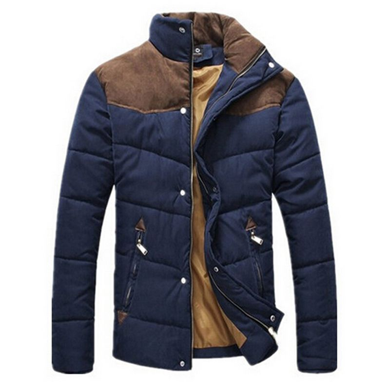 2013 Men's Brief Thermal Wadded Jacket Thickening Cotton-padded Jacket Winter Slim Jacket XXXL MWM169