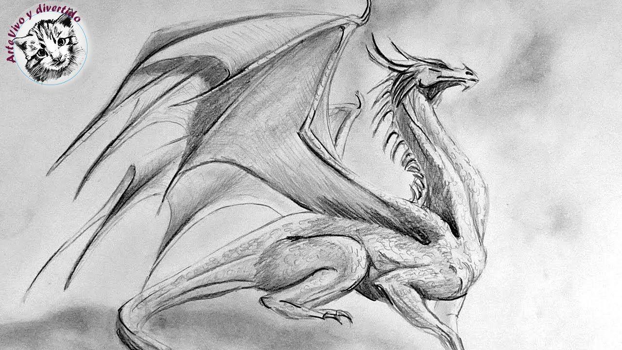 Como Dibujar Un Dragon A Lapiz Paso A Paso Dragones Dibujo De Dragon Como Dibujar