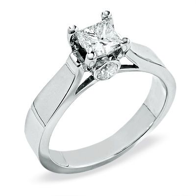 Stunning Princess Cut Diamond Solitaire Engagement Ring