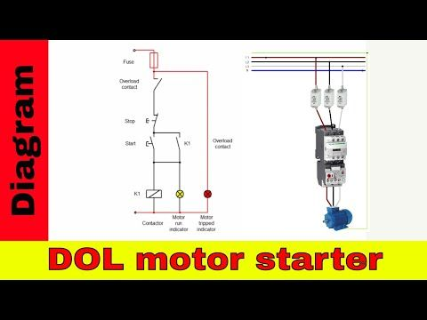 how to wire contactor direct on line starter  directions