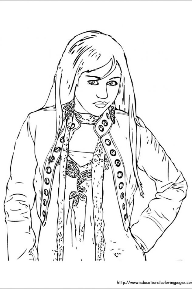 Hannah Montana Educational Fun Kids Coloring Pages And Preschool