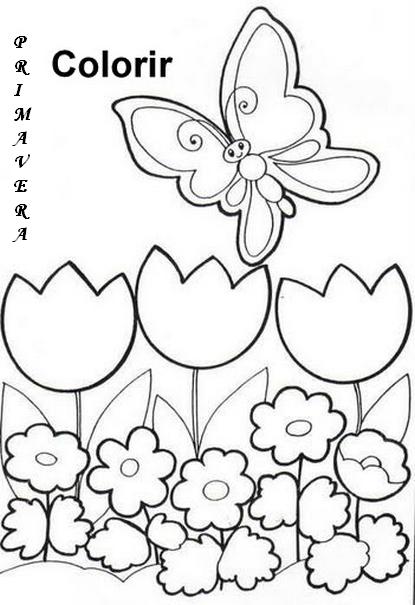 desenhos para colorir colorir primavera regina pinterest