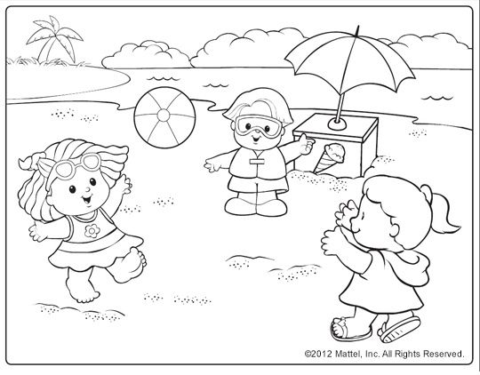 beach scene coloring pages kids coloring pages beach